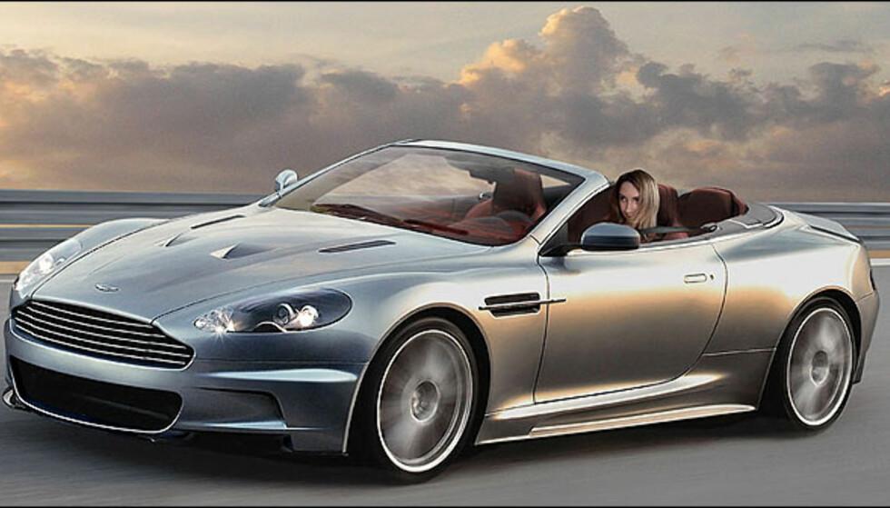 Aston Martin DBS Volante. Bildet er manipulert.