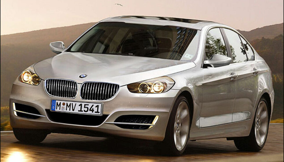 BMW 3-serie. Ny modell nærmer seg. Bildet er manipulert.
