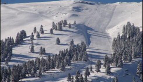 Slik så det ut i Kalavrita for noen dager siden. Foto: Kalavrita Ski Centre