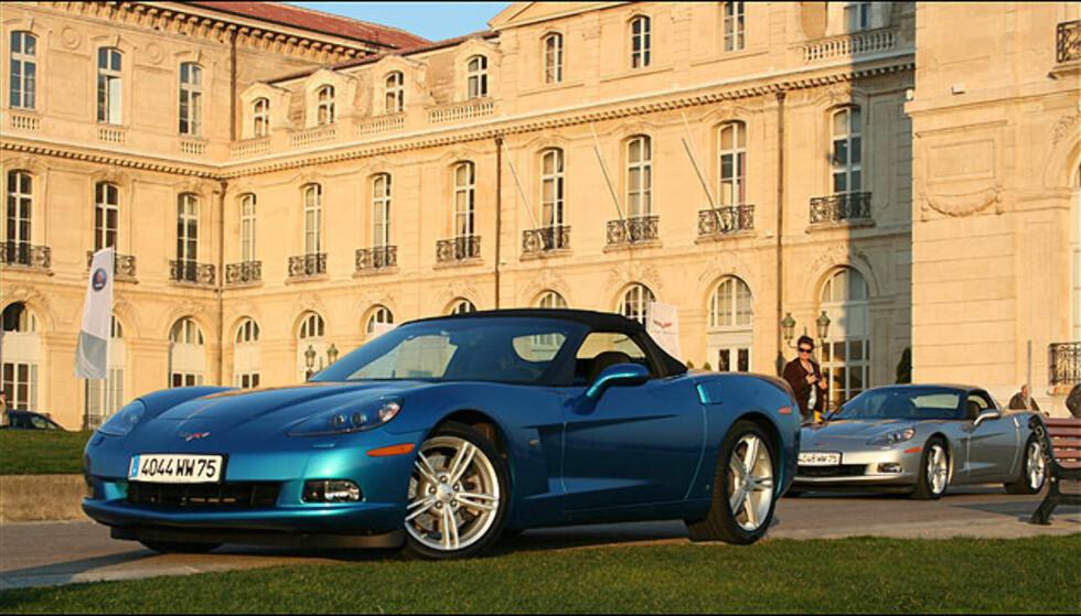 Corvette får man også som kabriolet.