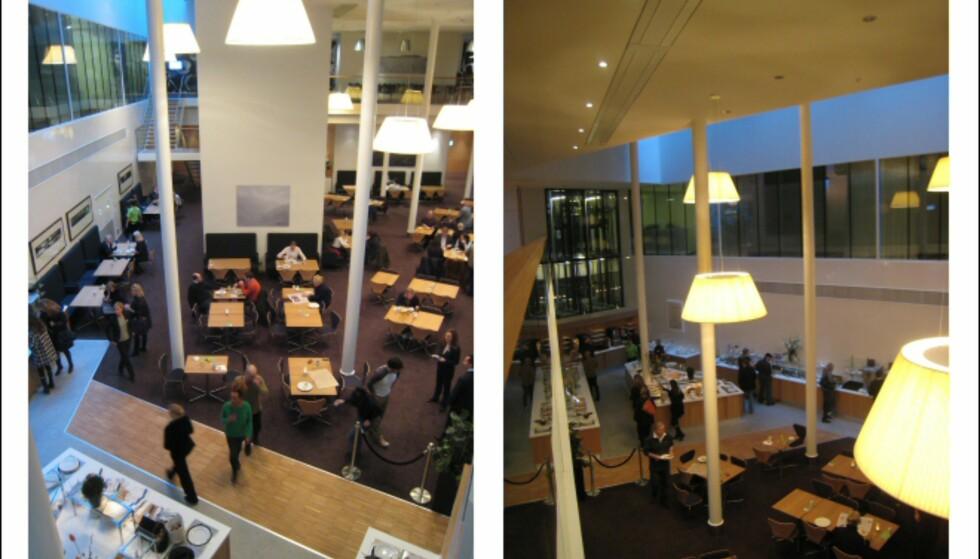 Buffet og spisesal, sett fra mezzaninen. Foto: Elisabeth Dalseg