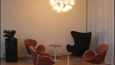 Danske designklassikere i hotellets Spa-avdeling. Foto: Elisabeth Dalseg