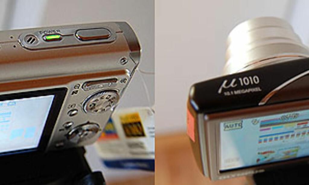 Her illustrerer vi noe av problemet med LCDen i forhold til et konkurrerende kamera. Innsynsvinkelen er rett og slett under pari.