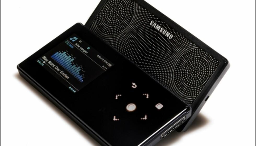 (Foto: Kim Gorostuen) Samsung S5 på sitt lekreste, med høyttaleren felt ut. Foto: Kim Gorostuen