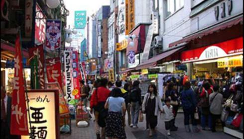 Gatematen i Tokyo er like spennende som gourmetmaten. Foto: Jan Harry Svendsen