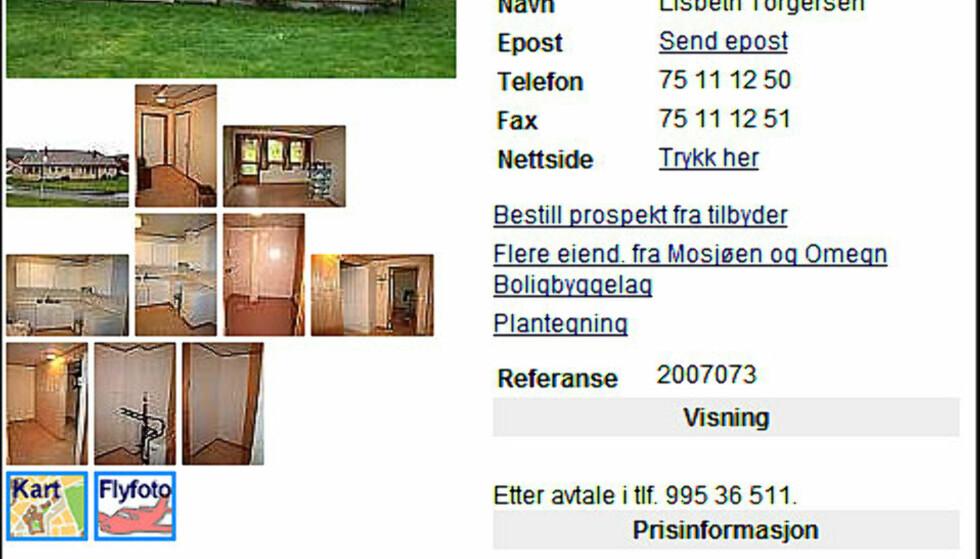 Sesongens billigste 13-åring? Denne leiligheten på Trofors i Nordland fylke koster 519.146 inkludert fellesgjeld. Det gir en kvadratmeterpris på 8.652 kroner.  FAKSIMILE FRA FINN.NO
