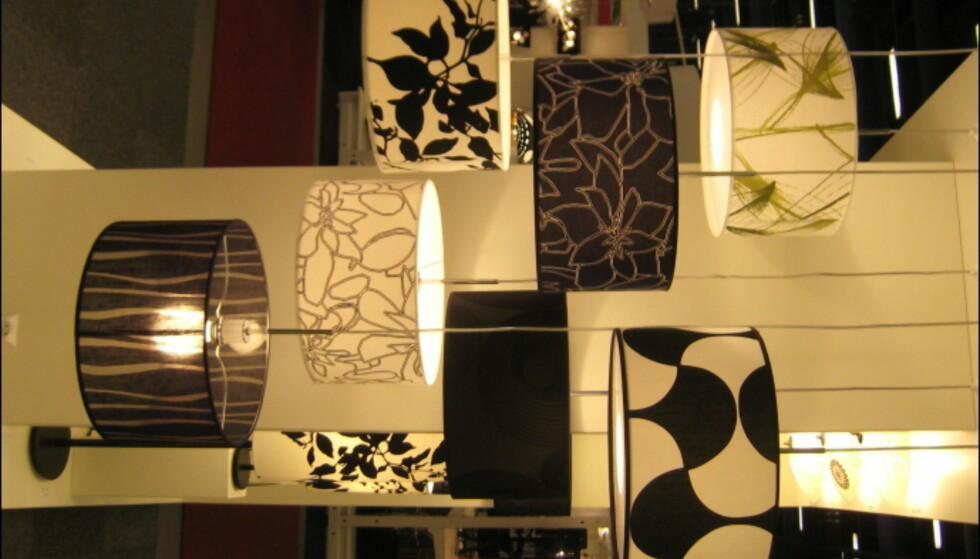 Mønstre i svart og hvitt, samt mønster inspirert av naturen var populært. Her fra Belid.