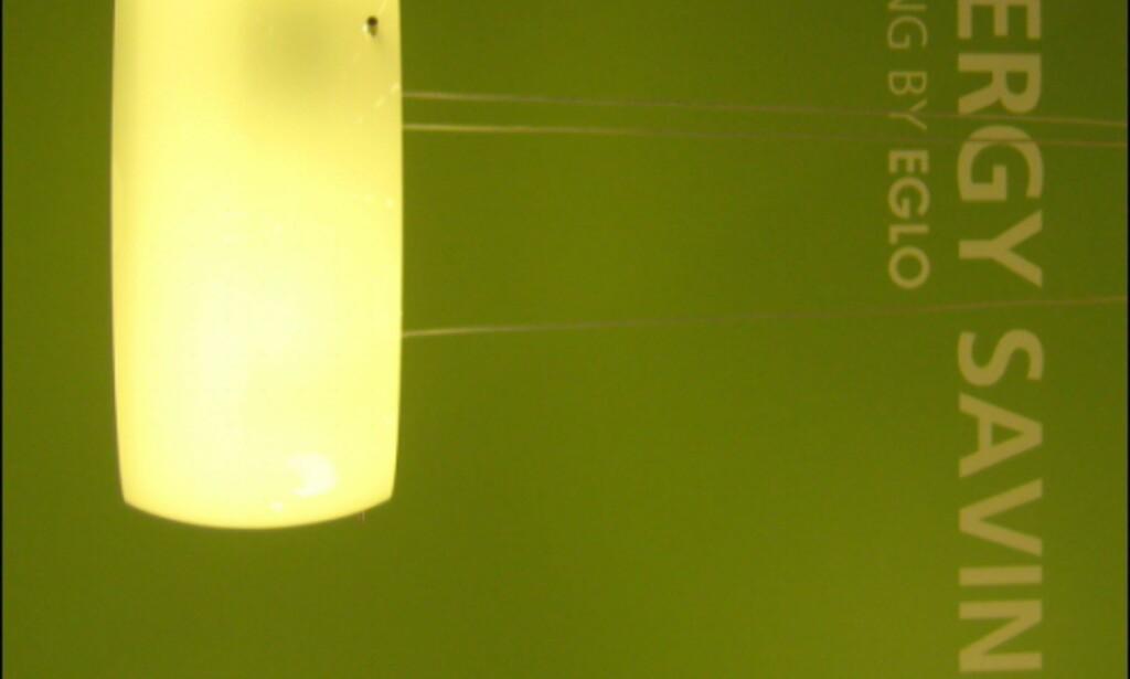 Energisparende lampe fra Eglo.