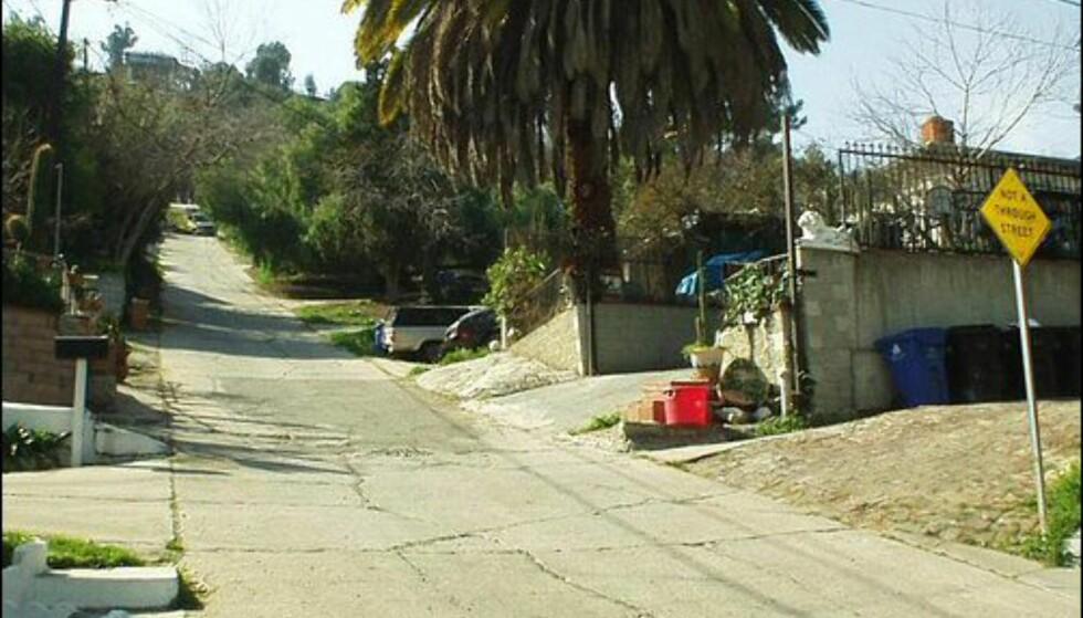 Eldred Street i Los Angeles er ikke mye slakere, den heller 33,3 prosent.