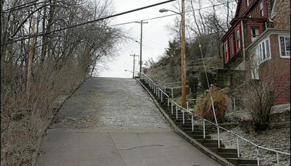 Canton Avenue i Pittsbyrgh har en stigningsgrad på 37 prosent.