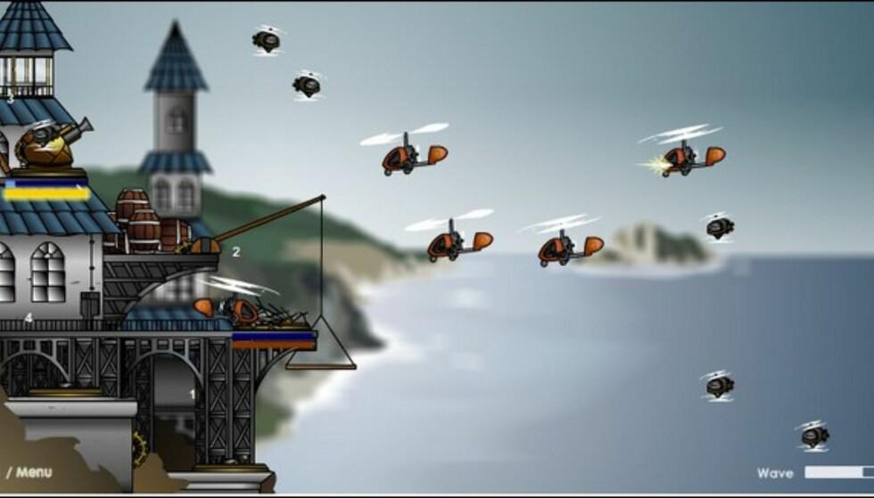 (Armor Games:) Fluesmekkerens mekka - men du må klare deg med kanoner og maskingevær!