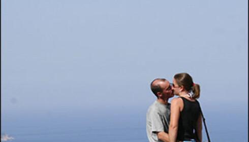 Ikke rart folk kysser, så mange flotte utsiktspunkter som her er på Kefalonia.   Foto: Inga Ragnhild Holst