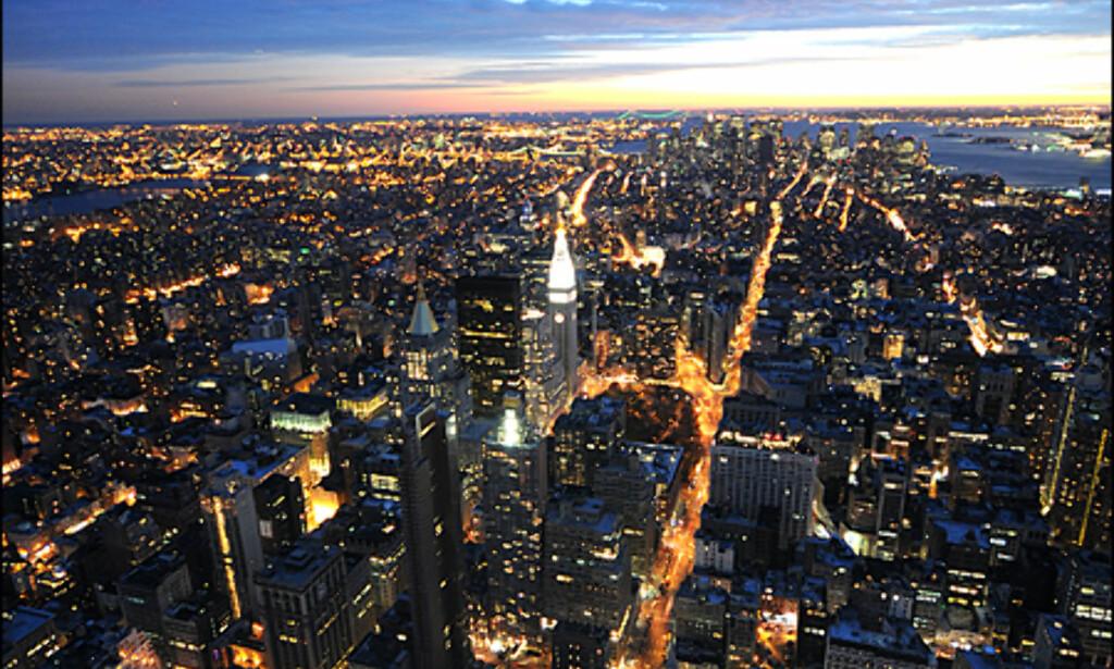 Solnedgang fra Rockefeller slår det meste en ettermiddag i New York.
