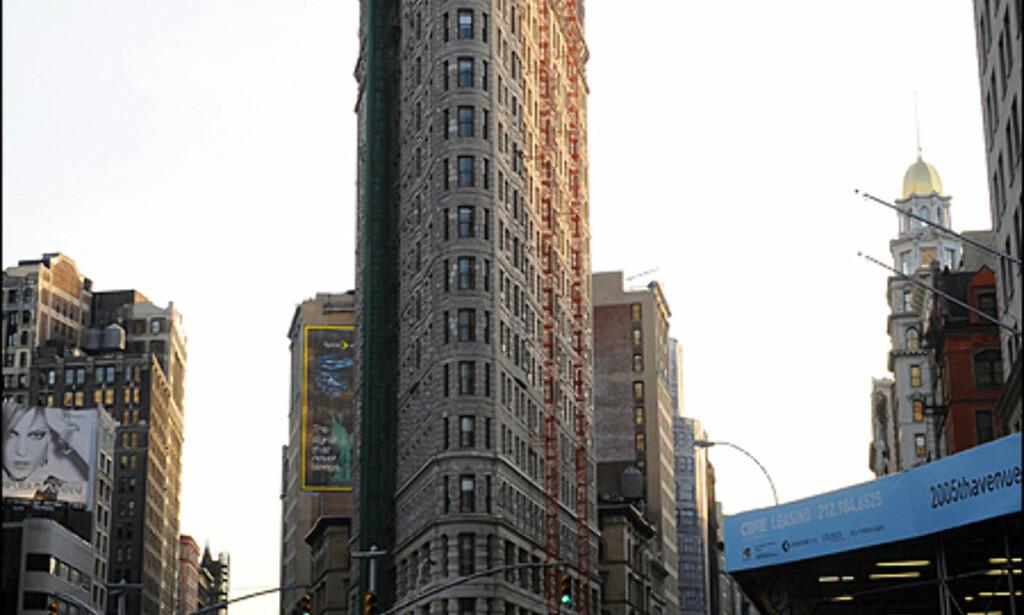 Flat Iron - en av mange kjente fasader i millionbyen.