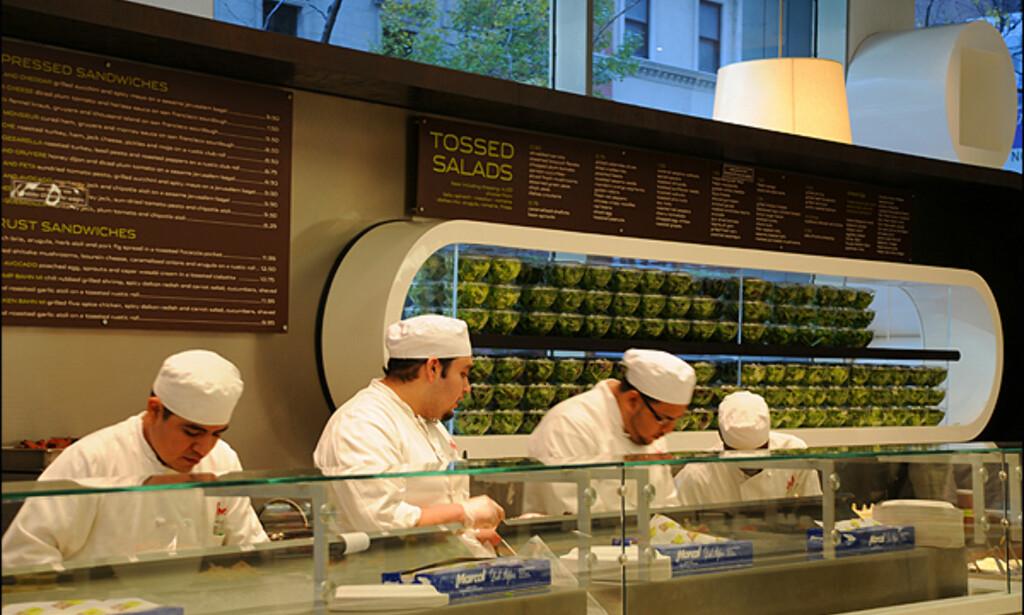 Du finner knapt et sted på denne jord med så mange salatbarer som på Manhattan. Perfekt for en frustrert frue...