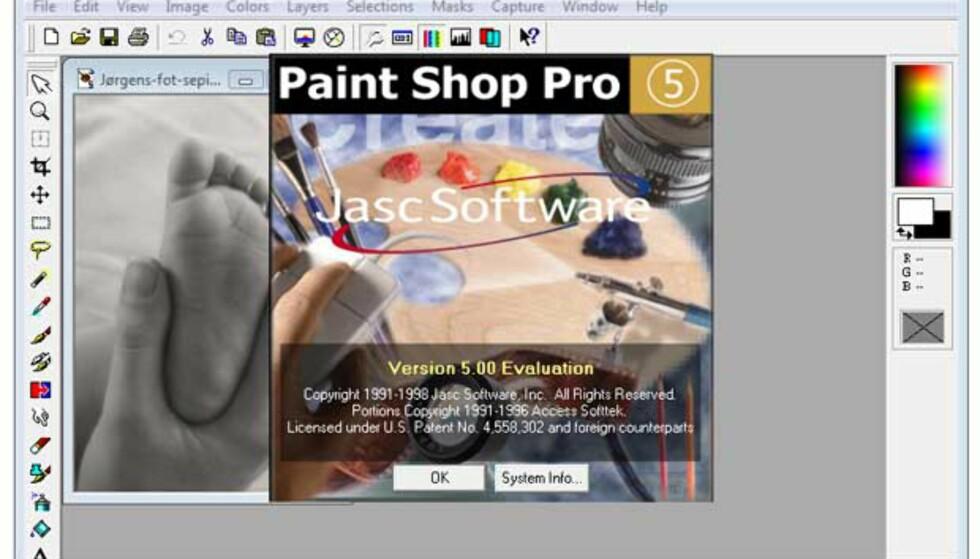 Paint Shop Pro 5 var ikke på mer enn 6 MB, men kjører fint den dag i dag - og laster 10 megapiksels bildefiler uten å mukke.