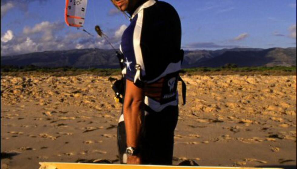Playa de los Lances utenfor Tarifa er kiternes favoritt. Foto: Vibeke Montero