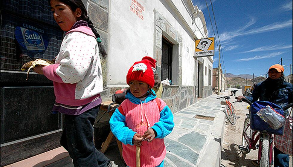 Lokalbefolkning i San Antonio de los Cobres