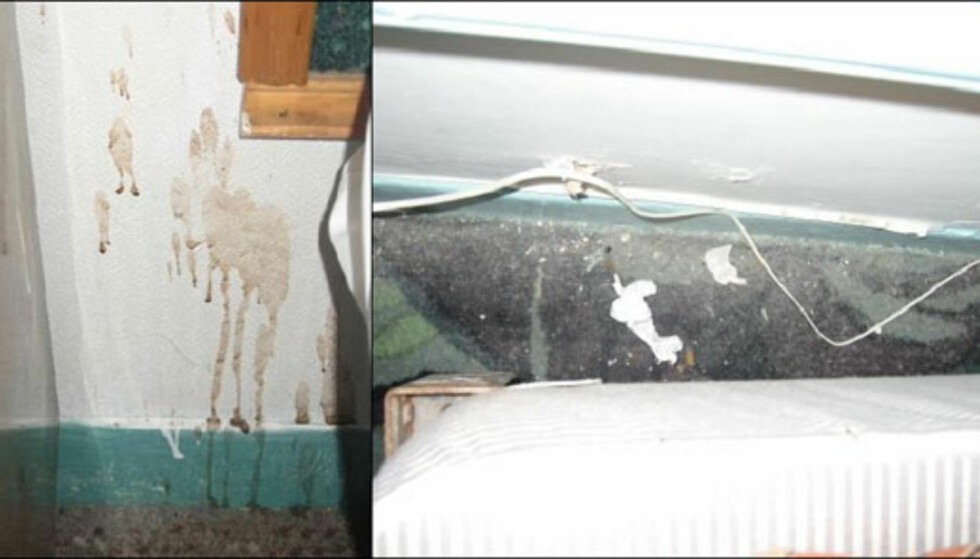 Hotel Carter i New York skal være en gjenganger på toppen av  Tripadvisors møkkalister. Bildene fra et av badene/soverommene sier sitt om årsaken til dette ... Foto: Private bilder fra Tripadvisor.com