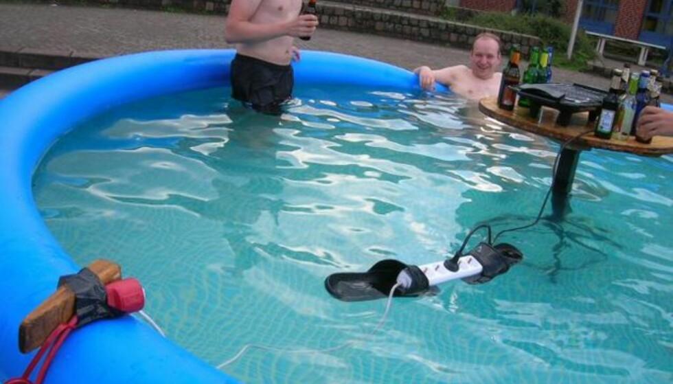 Smartinger i bassenget