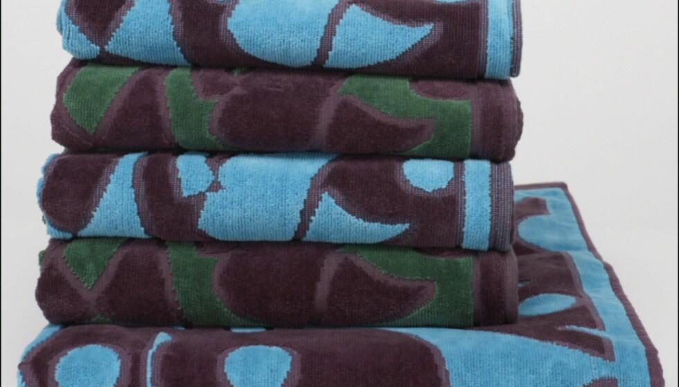 Matchende håndklær. Fås i en rekke størrelser, og ulike fargekombinasjoner. Pris fra 4-pack med håndhåndklær til 189 kroner til 419 kroner for maxi badehåndklær.  Foto: La Redoute