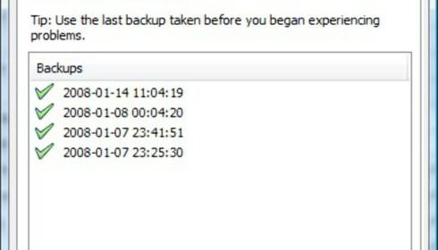 Hvis iPod-databasen blir korrupt, kan en tidligere versjon gjenopprettes gjennom restore-funksjonen.