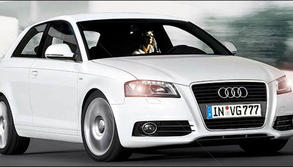 Audi A3 Facelift er ventet i år. Bildet er manipulert.