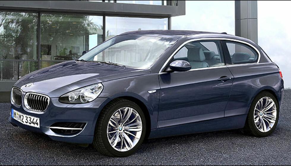 BMW City kan bli virkelighet. En premium småbil. Lansering i nærmere 2012. Bildet er manipulert.