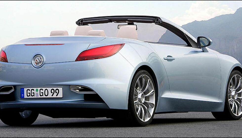Buick er en del av General Motors. Med Riviera vil de kanskje satse på en liten kabriolet. Bildet er manipulert.