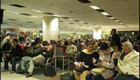 Flyplassen i Delhi - et eneste kaos, ifølge DinSide Reises egen flyplasstest.  Foto: Sindre Storvoll