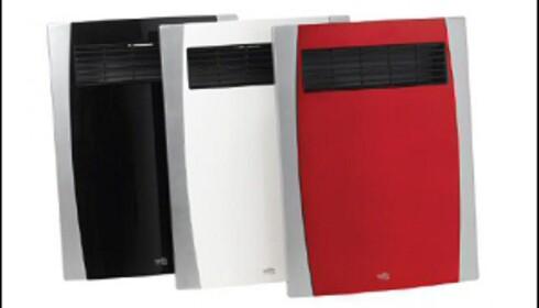 Du kan vinne en av disse supertynne varmeviftene fra Wilfa, som også kan brukes i våtrom. Fås i svart, hvitt og rødt. Foto: Wilfa Foto: wilfa