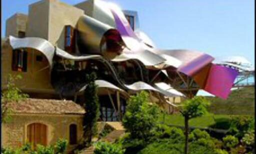 Arkitektur som lokkemidler er stort i hotellbransjen. Her fra Marques de Riscal i Nord-Spania, tegnet av Frank Gehry. Foto: Marqués de Riscal