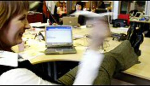 Leserne ønsker seg hjemmekontor, kanskje det er fordi mange av dem oppgir å ha rotete bord? Foto: Per Ervland Foto: Per Ervland