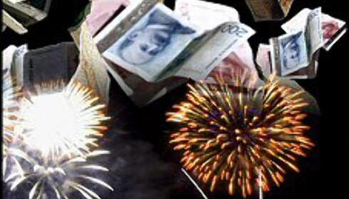 Få et godt økonomisk nytt år! Illustrasjon: Per Ervland Foto: Per Ervland