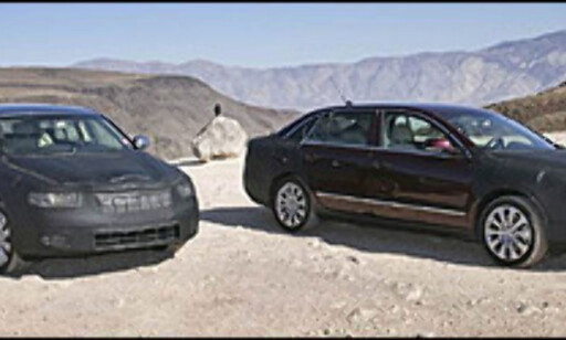 Skoda Superb under testing i USAs Death Valley.