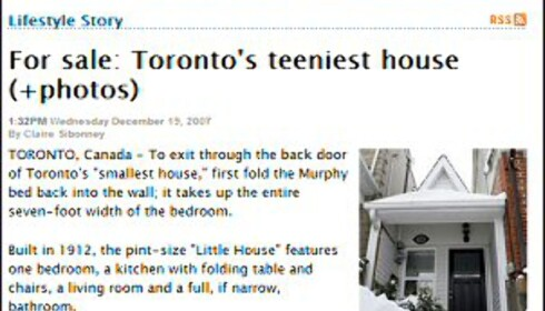 Minihuset er 28 kvadratmeter. Faksimile fra nzherald.co.nz.