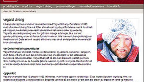 Faksimile fra Ulvang.no