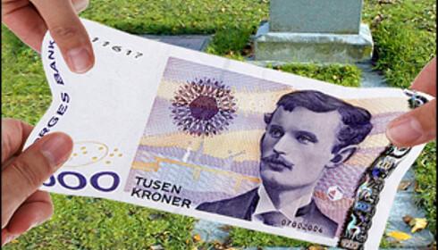 Har man brukt opp fribeløpet, må man betale arveavgift på resten. Bilde: Per Ervland.