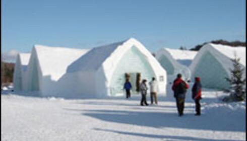 Vinterstemning i Quebecs ishotell.Foto: Quebec Ice Hotel