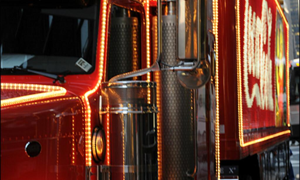 Det blir ikke jul hvis ikke Coca Cola-traileren kommer til byen ...