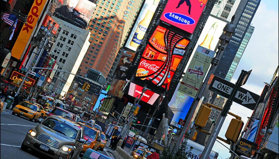 Times Square må man innom om det er julehandel eller ikke.