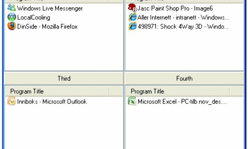 image: Fire skrivebord i Windows