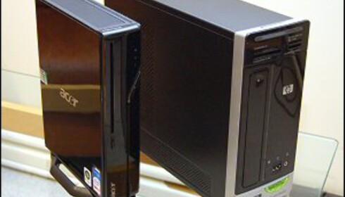 Acer til venstre, HP til høyre.