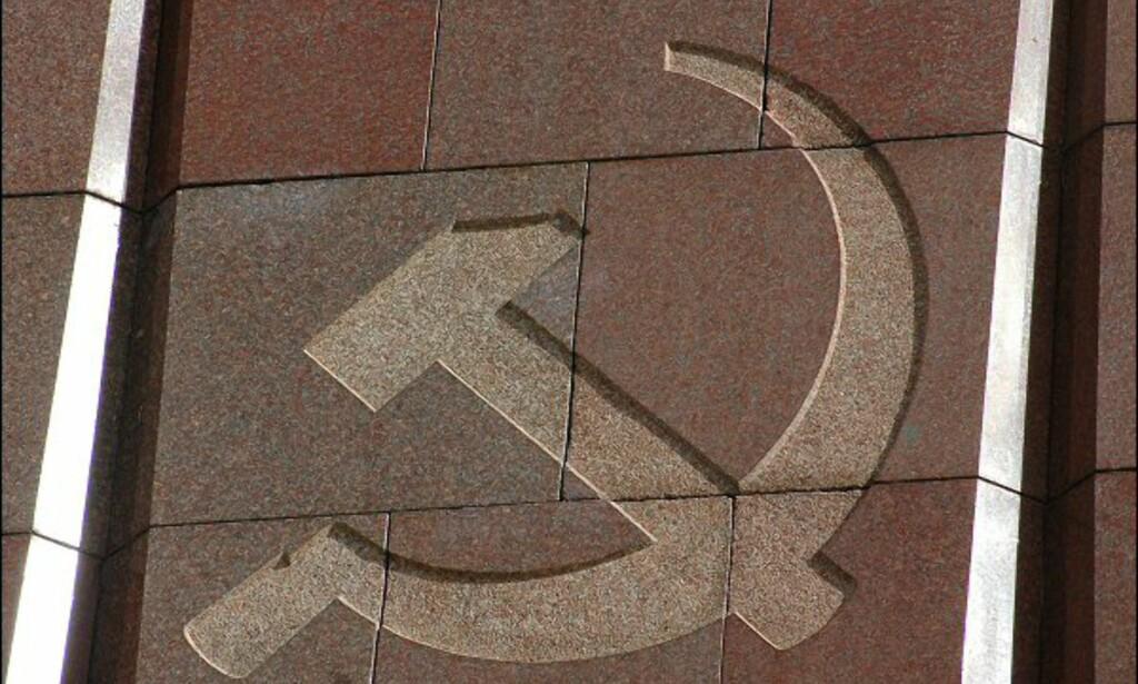 Sovjetunionens symbol - sigden og hammeren. Foto: Tore Neset