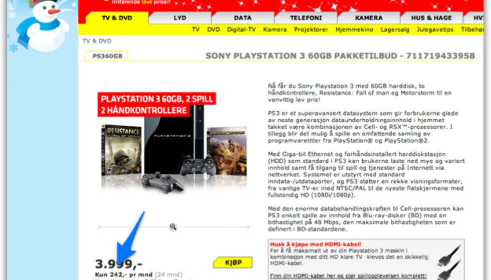 Sjokkpris på Playstation 3