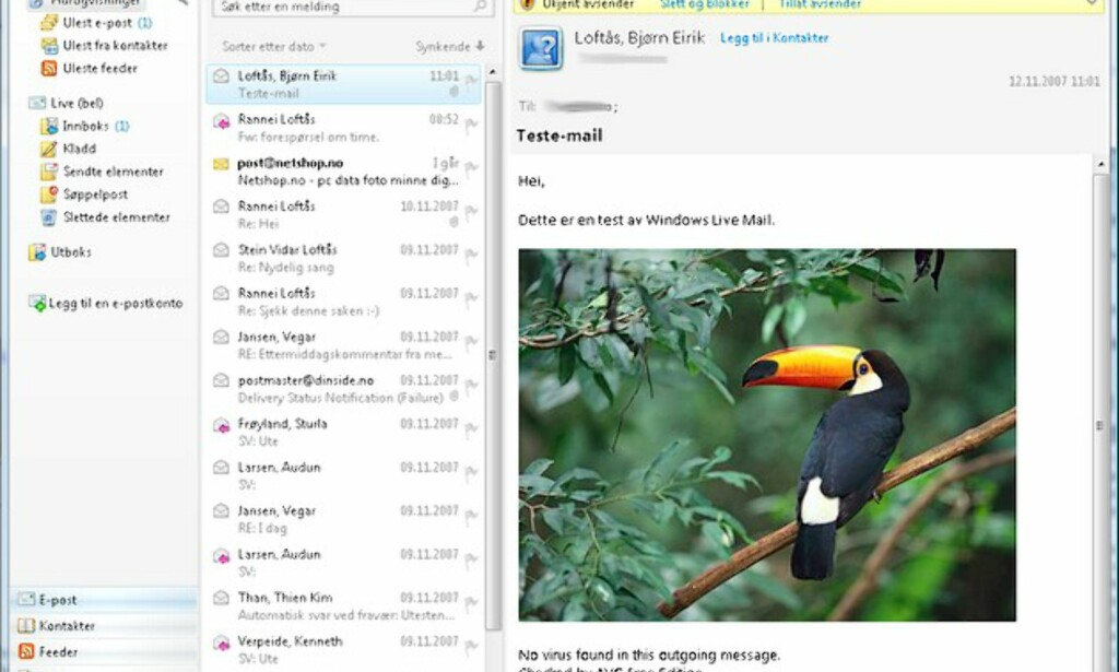 image: Windows Live Mail