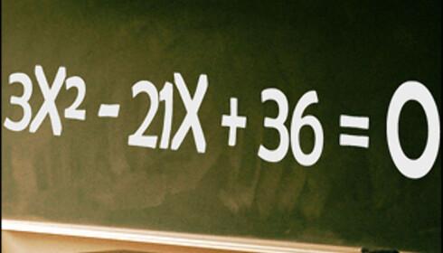 <strong>Klarer du å løse denne likningen? <i>Illustrasjon:</strong> Per Ervland.</i>
