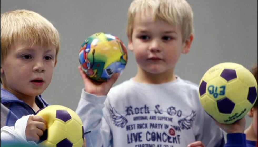 Å kaste baller i revejakten er spennende Foto: Per Ervland