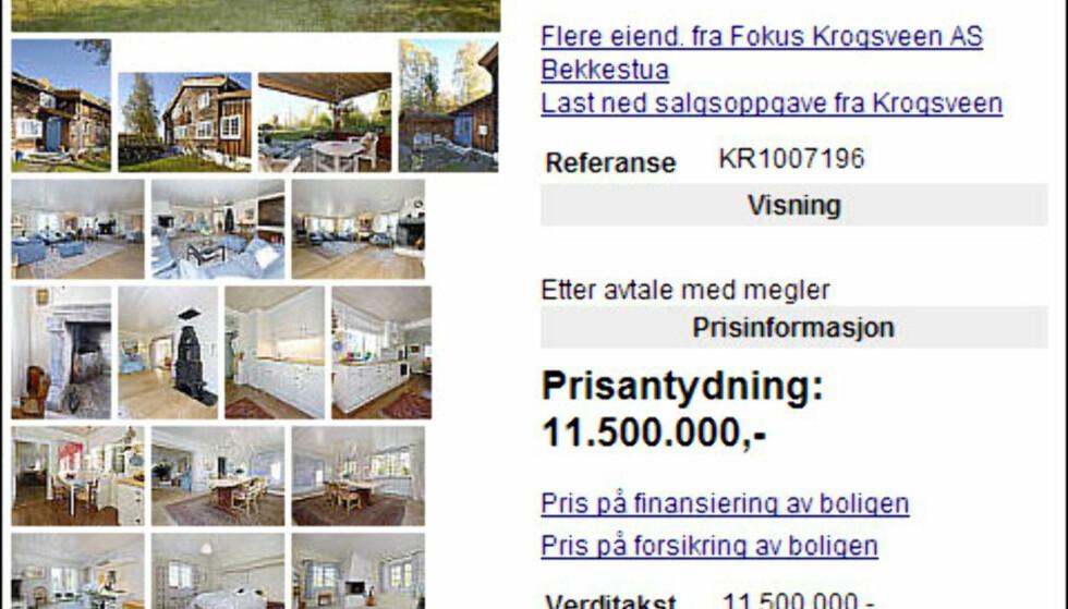 For 11,5 millioner kroner får du et tømmerhus bygget i 1729 på Hosle i Bærum kommune. På innsiden skiller boligen seg ikke fra moderne nybygg; her er tidsmessige innredning, lyse farger og ellers hva man kan forvente av komfort.