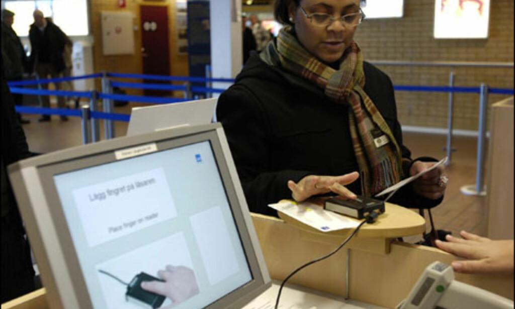 Innsjekk av bagasje ved hjelp av biometri: Slik ser det ut. Foto: SAS